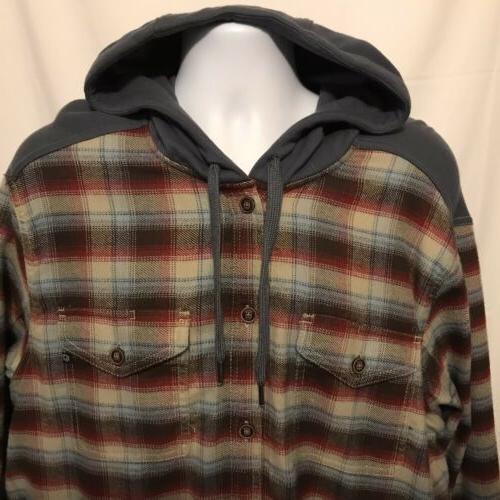 Marmot Mens Heavyweight Flannel Long Hoodie