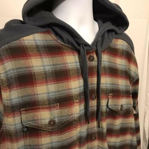 Marmot Mens Heavyweight Flannel Hoodie Shirt NWOT