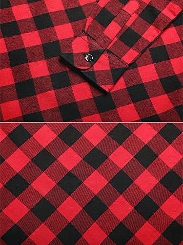 Women's Mid-Long Up Sleeve Flannel Shirt G056 XS