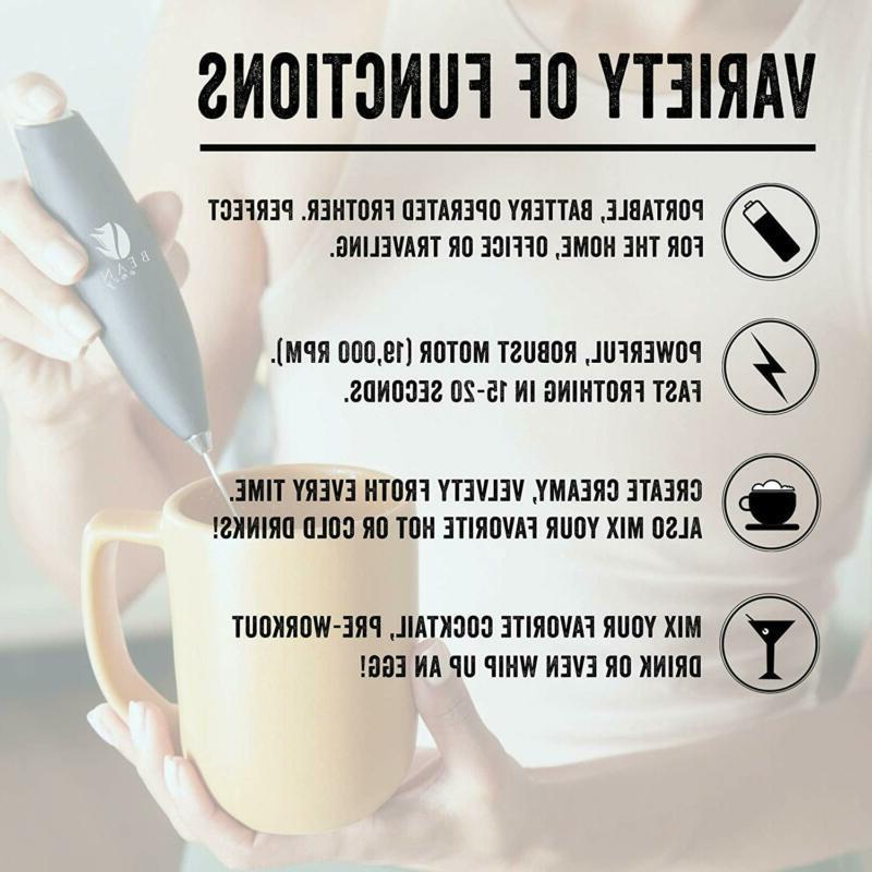 Bean Milk Handheld - For The Best Latte Whip Foamer Inc