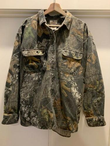 mossy oak apparel mens chamois soft camo