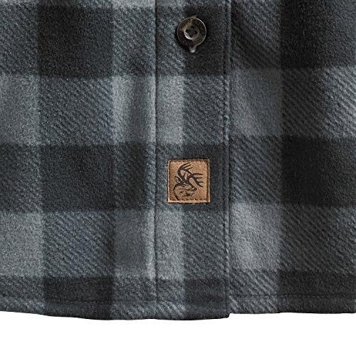 Legendary Fleece Button Up Graphite Plaid Large