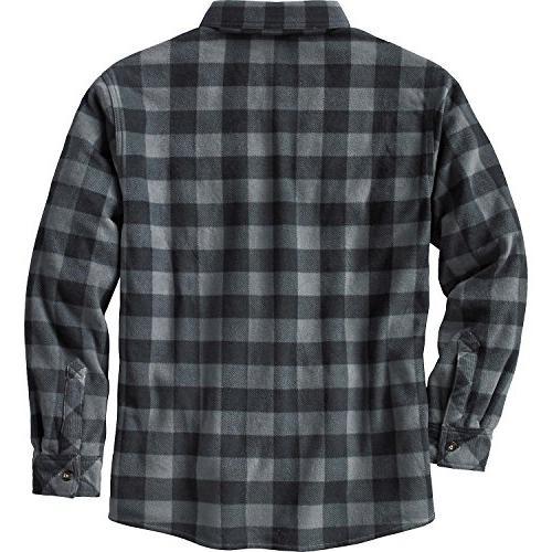 Legendary Fleece Button Plaid