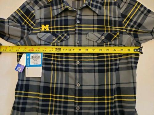 Columbia NCAA Michigan Wolverines Shirt Small NWT