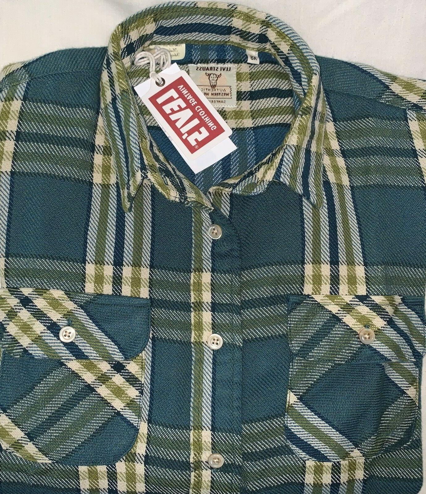 New Levis Clothing Western Wear Flannel