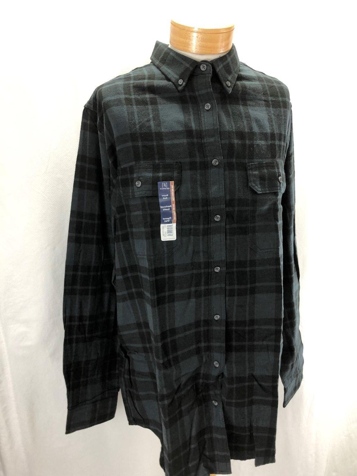 NEW FLANNEL SHIRT COTTON BLACK/GRAY