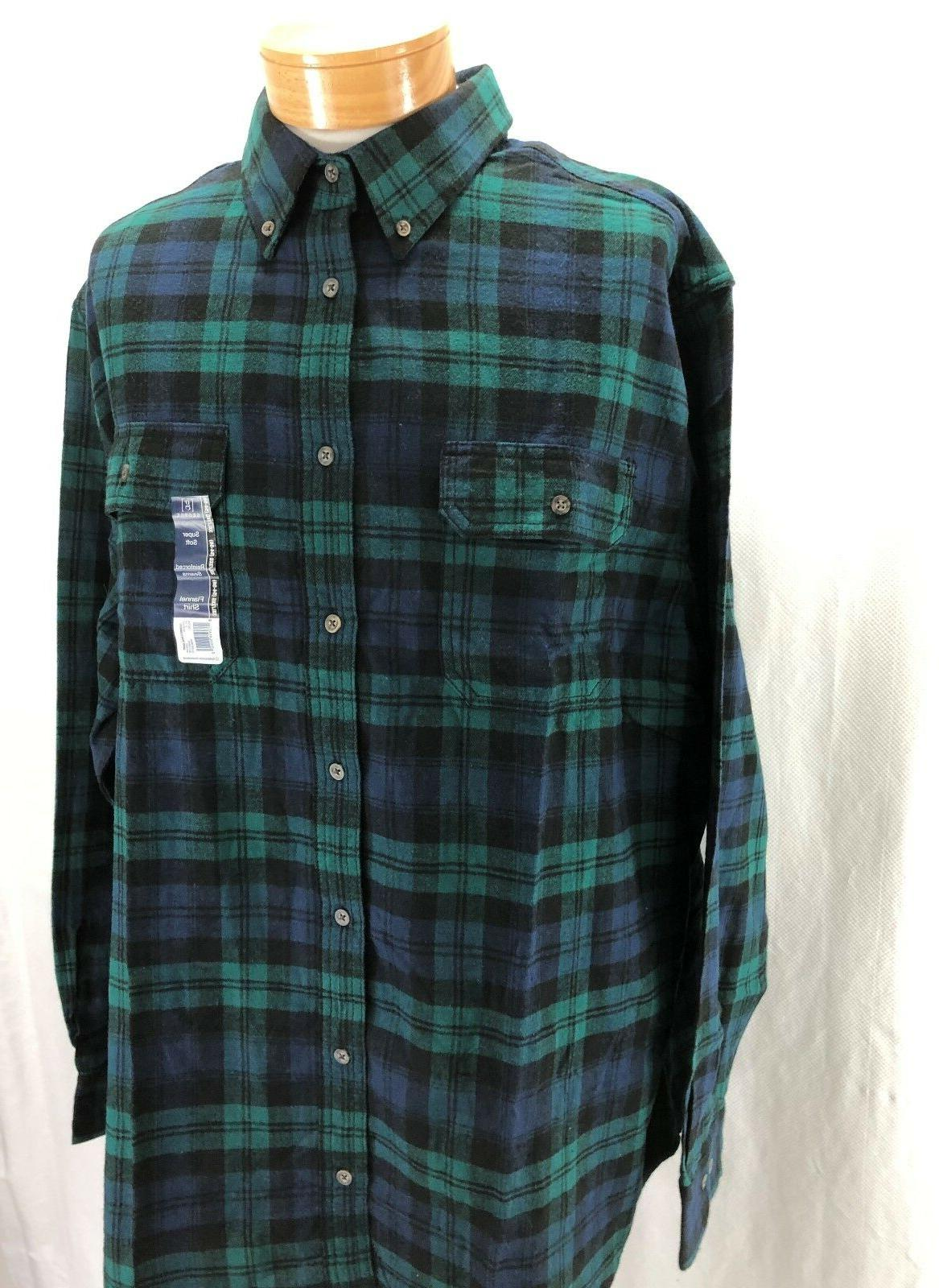 NEW FLANNEL COTTON NAVY/GREEN