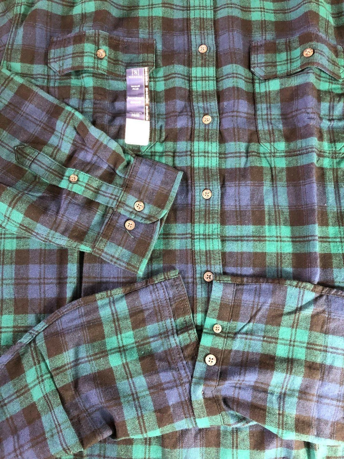 NEW FLANNEL DOWN COTTON NAVY/GREEN