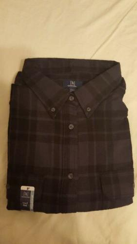 new 3xlt plaid flannel shirt button down