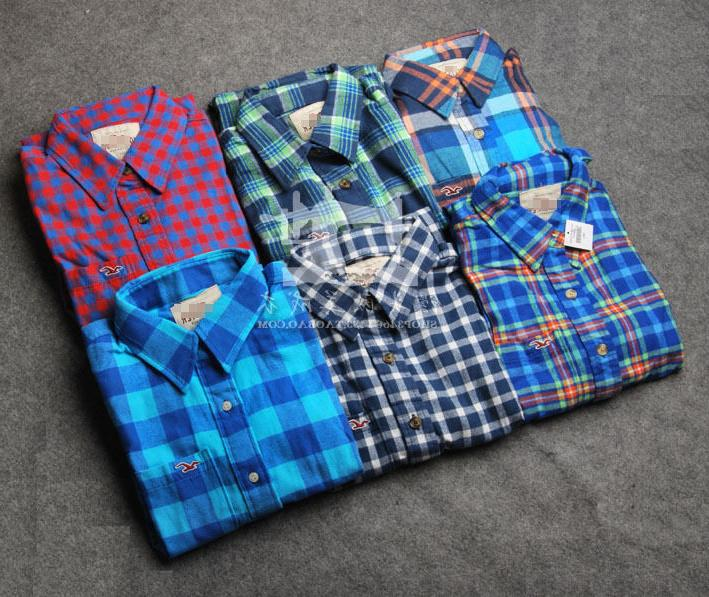 new by abercrombie men flannel plaid shirts