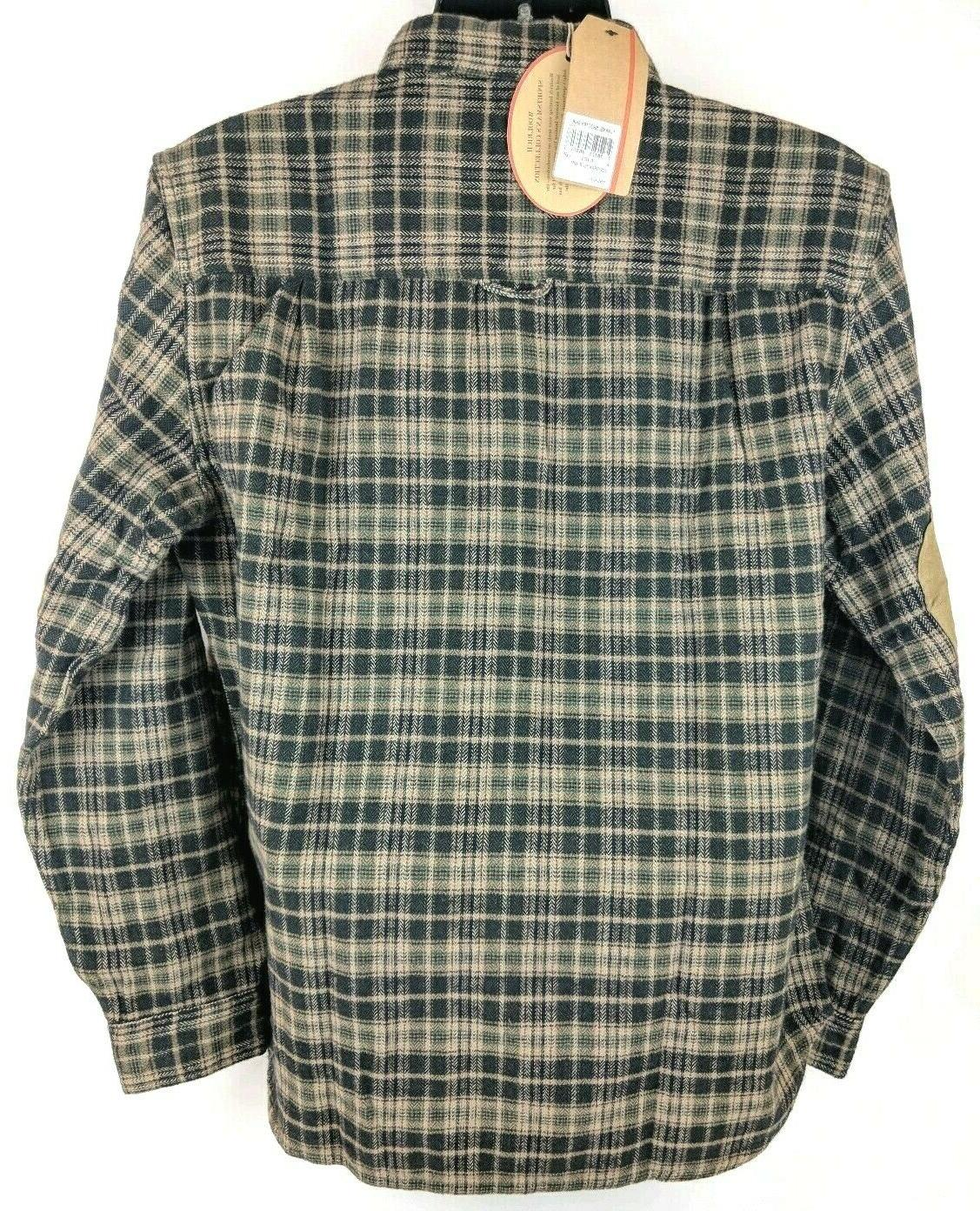 NEW Woolrich Plaid Flannel Padded Shooting Hunting Shirt Men M L