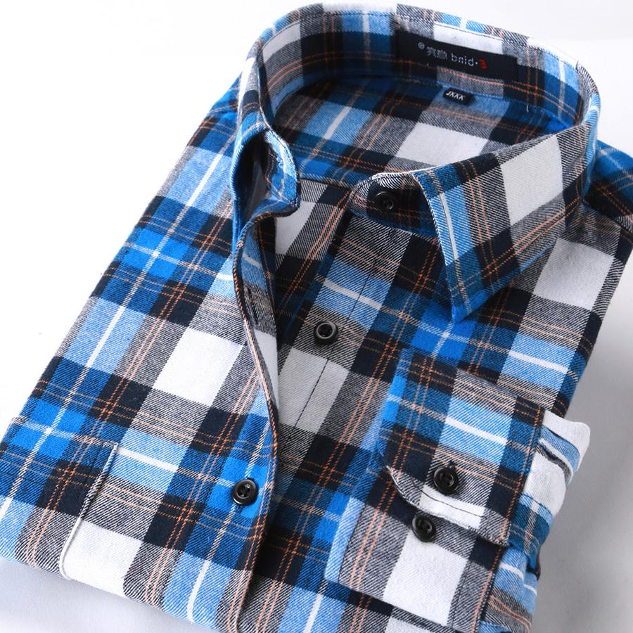 New <font><b>4XL</b></font> Men's <font><b>Shirt</b></font> Spring Autumn British Plaid <font><b>Shirts</b></font> Leisure AF12