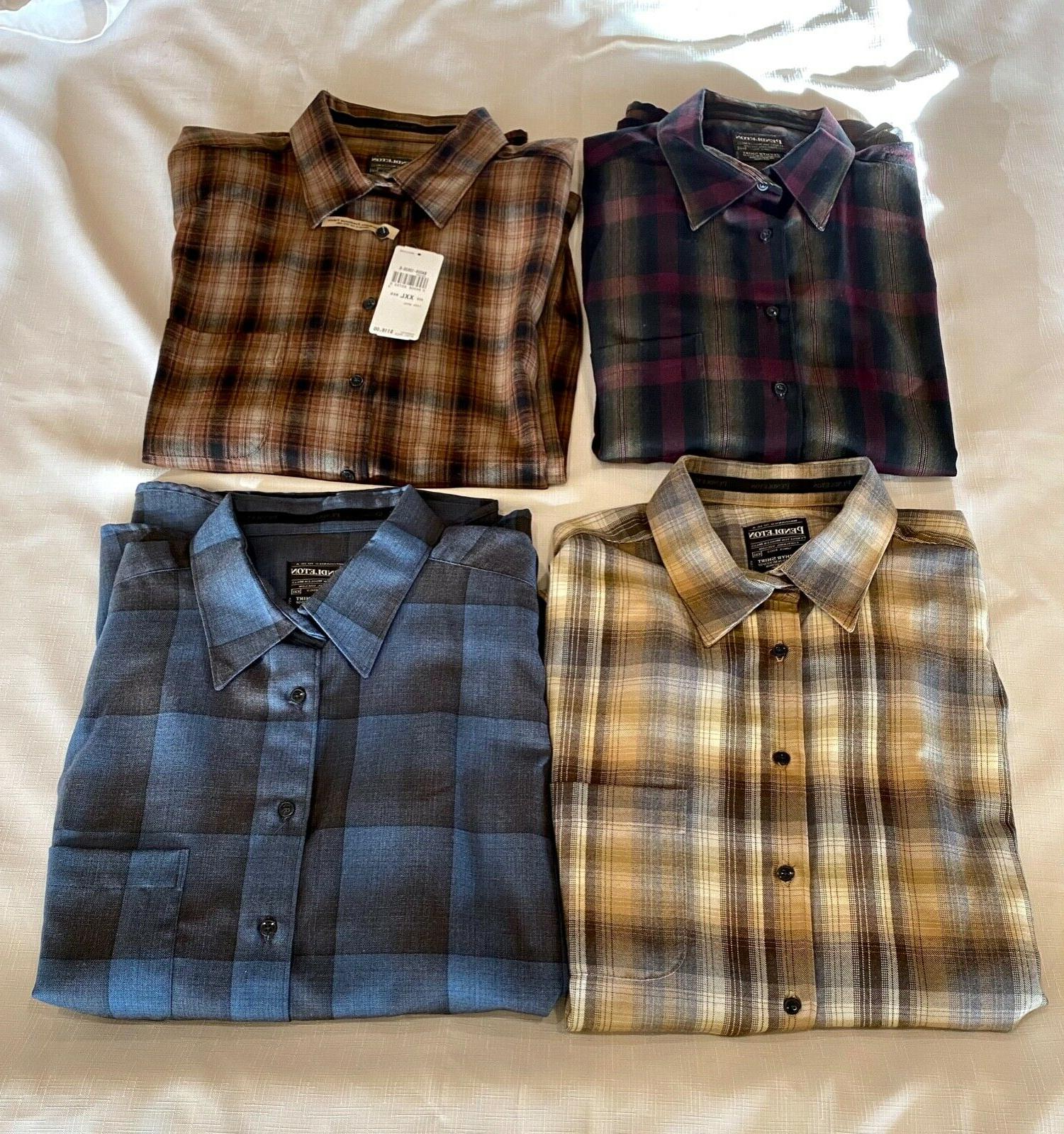 new four 4 zephyr flannel shirts size