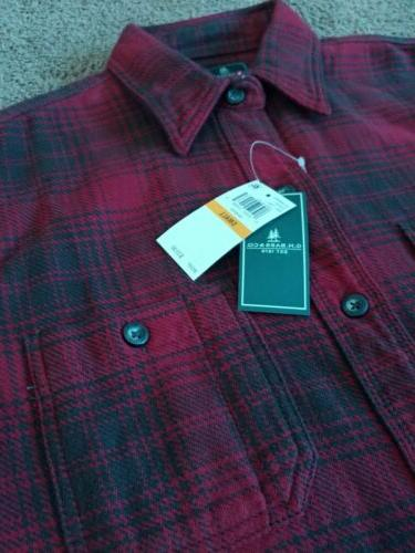 New G.H. Bass Co Mens Plaid Flannel Long Sleeve
