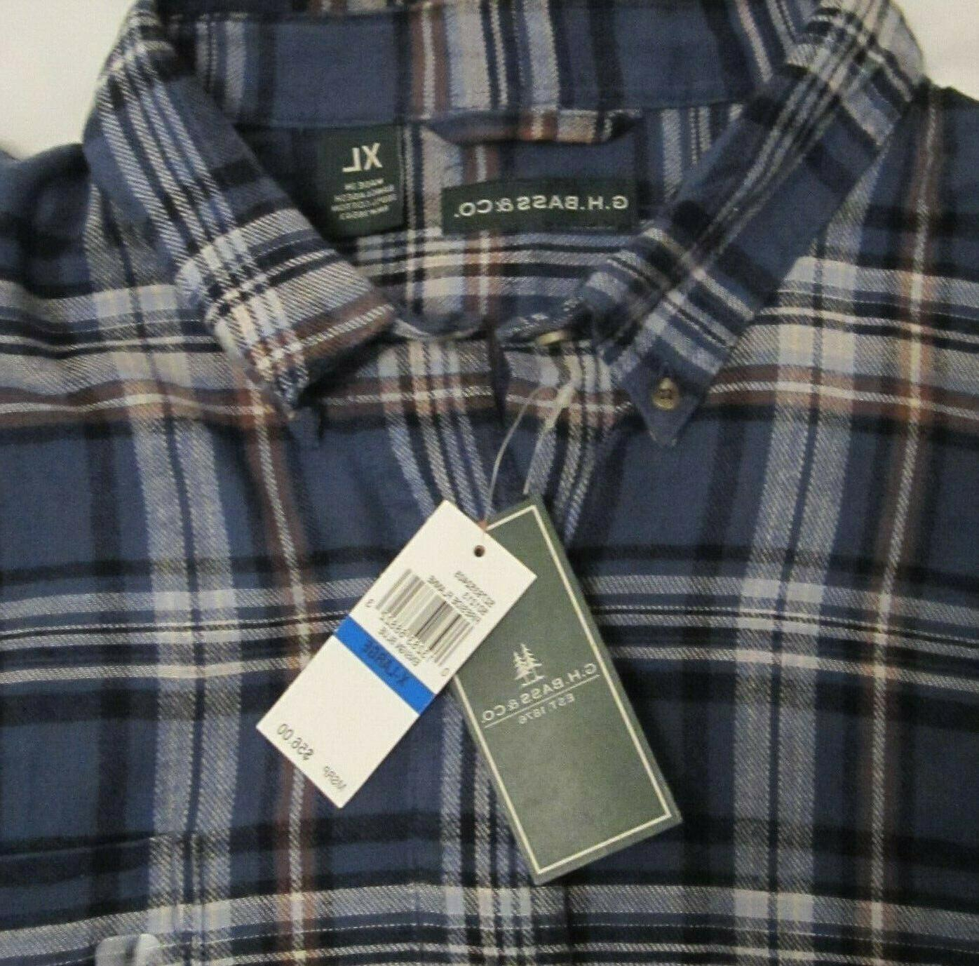 NEW G.H. Bass Co. Mens Plaid Flannel