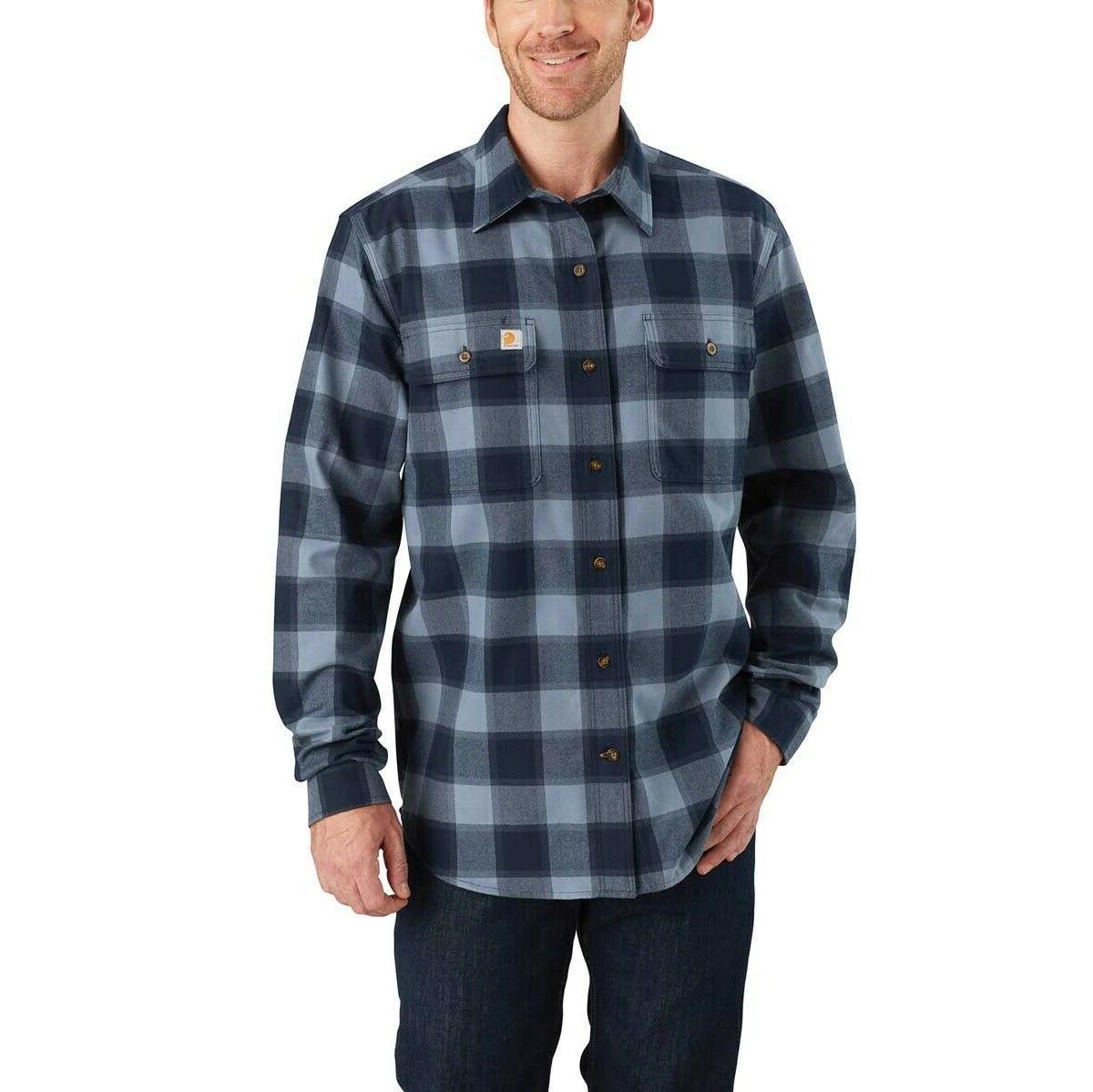 NEW Carhartt Heavy Flannel Men's Size XL-Tall Blue