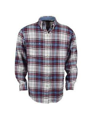 new long sleeve flannel biking red large