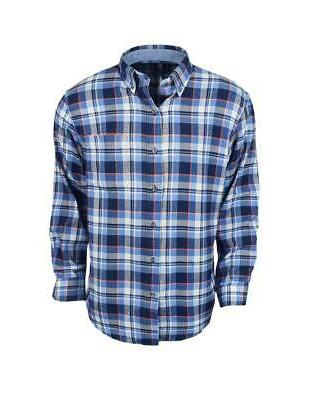 new long sleeve flannel federal blue large