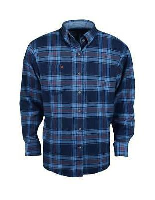 new long sleeve flannel peacoat large