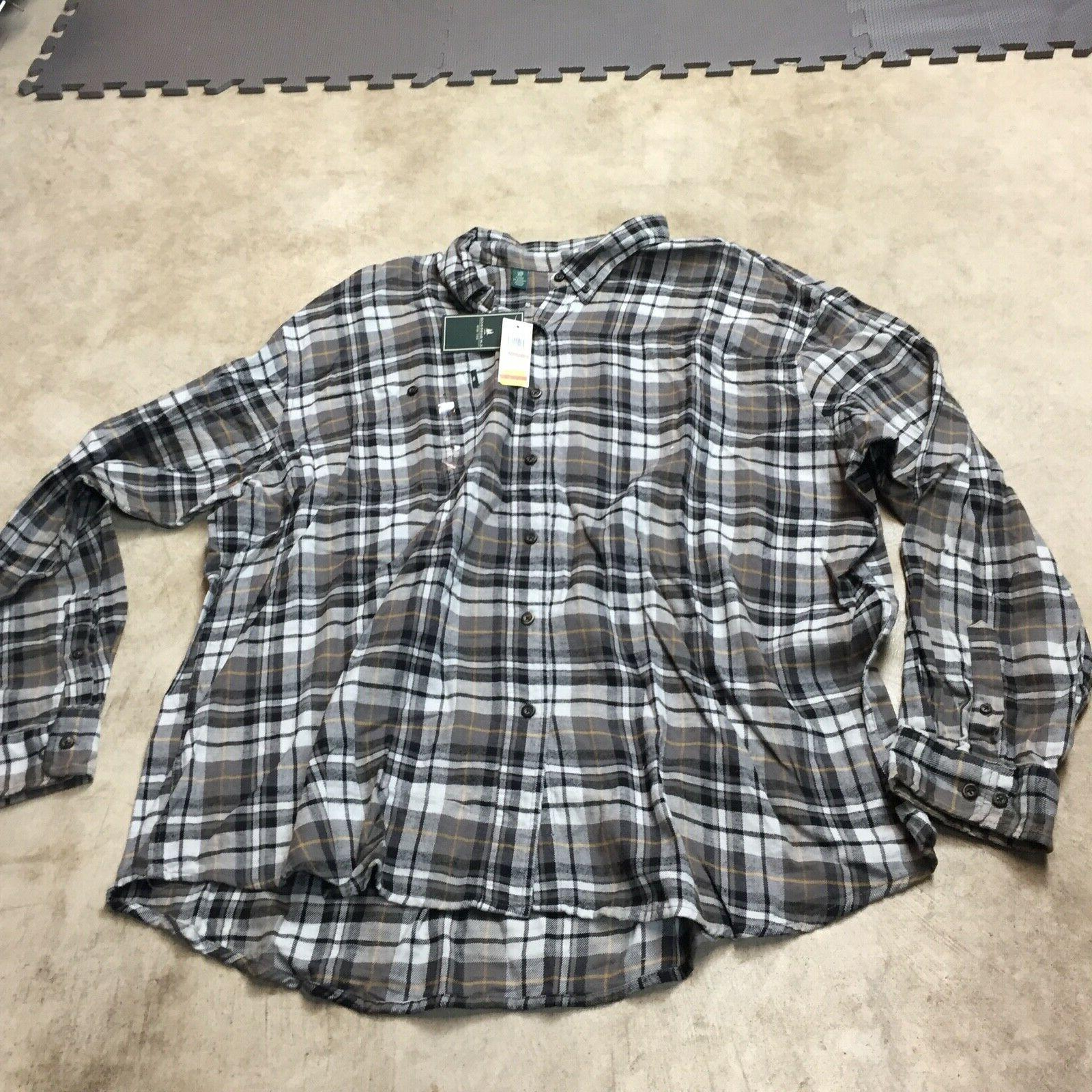 NEW of 3 mens button up shirts fireside flannel 3XL