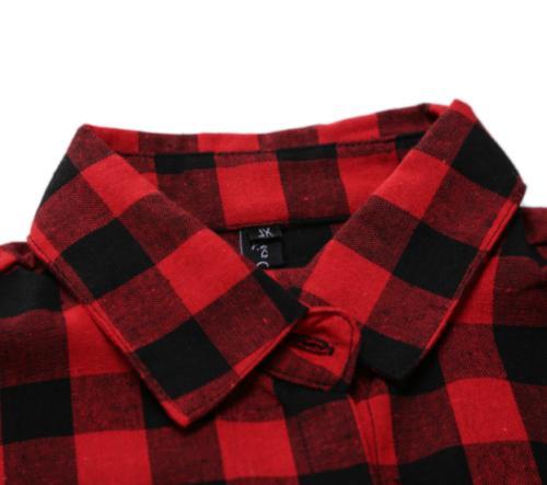 New Men Flannel Check Cotton Work Flannel Plaid Shirt