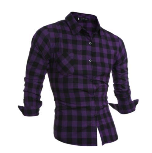 New Men Long Flannel Cotton Shirt