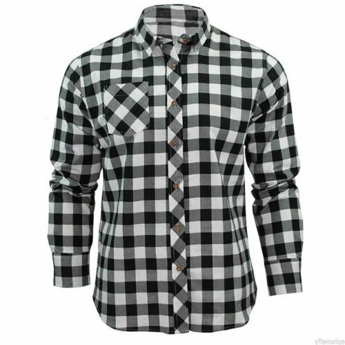 New Long Sleeve Flannel Cotton Flannel Shirt