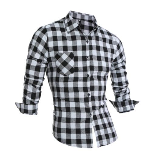 New Flannel Cotton Flannel Plaid Shirt
