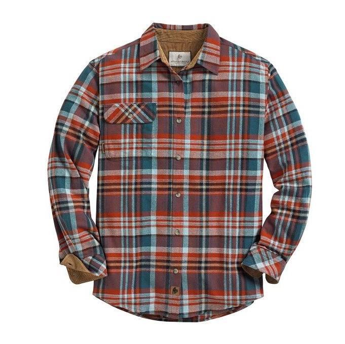new men s buck camp flannel shirt