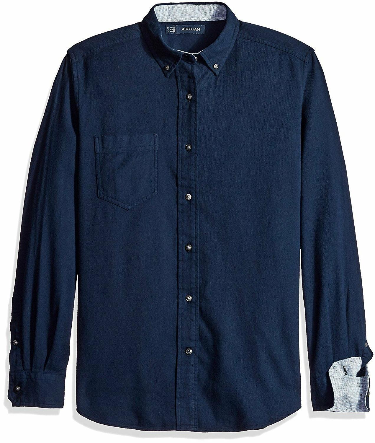new men s classic fit navy solid