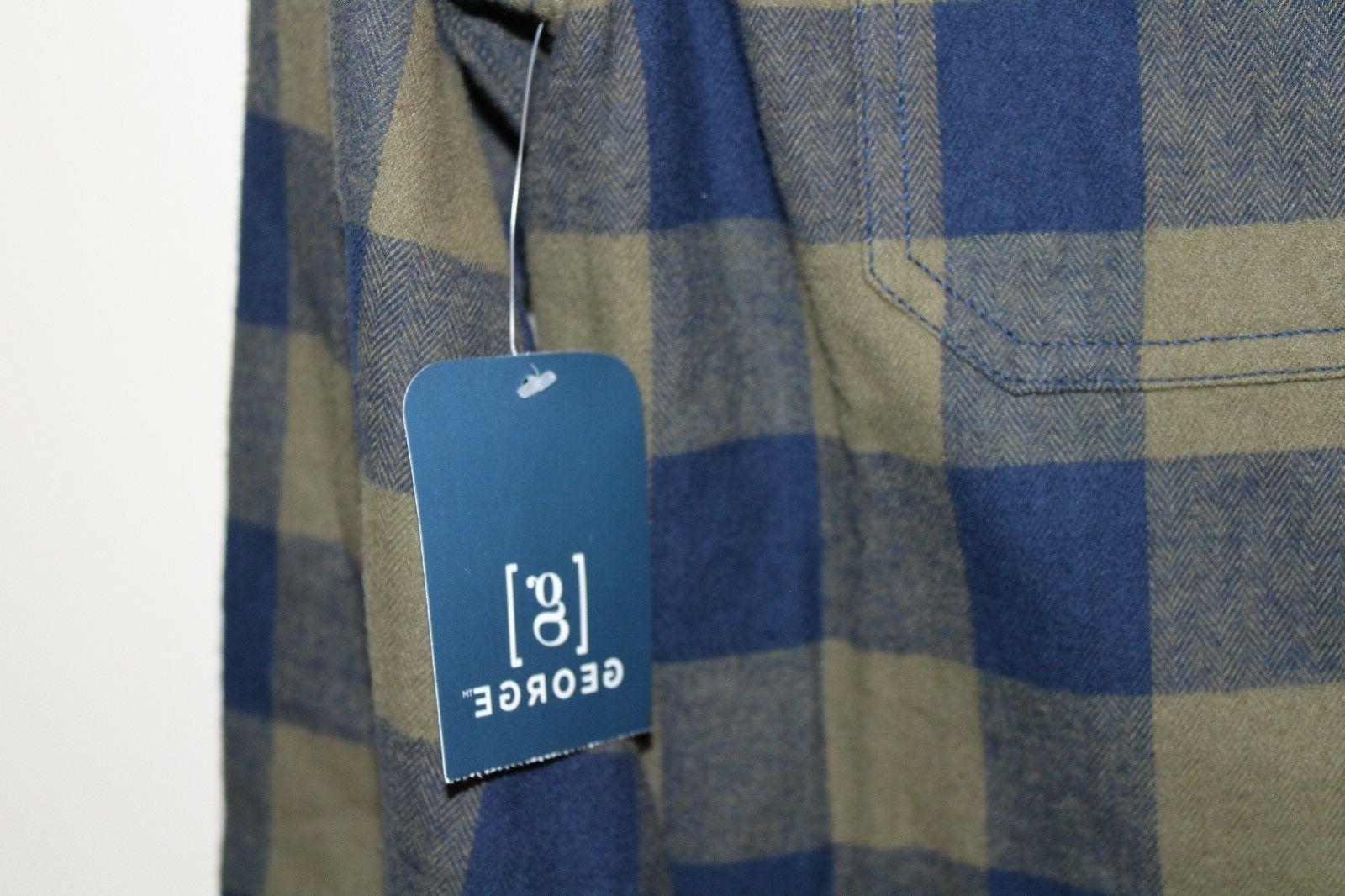 NEW Men's Long Flannel by Size Plaid