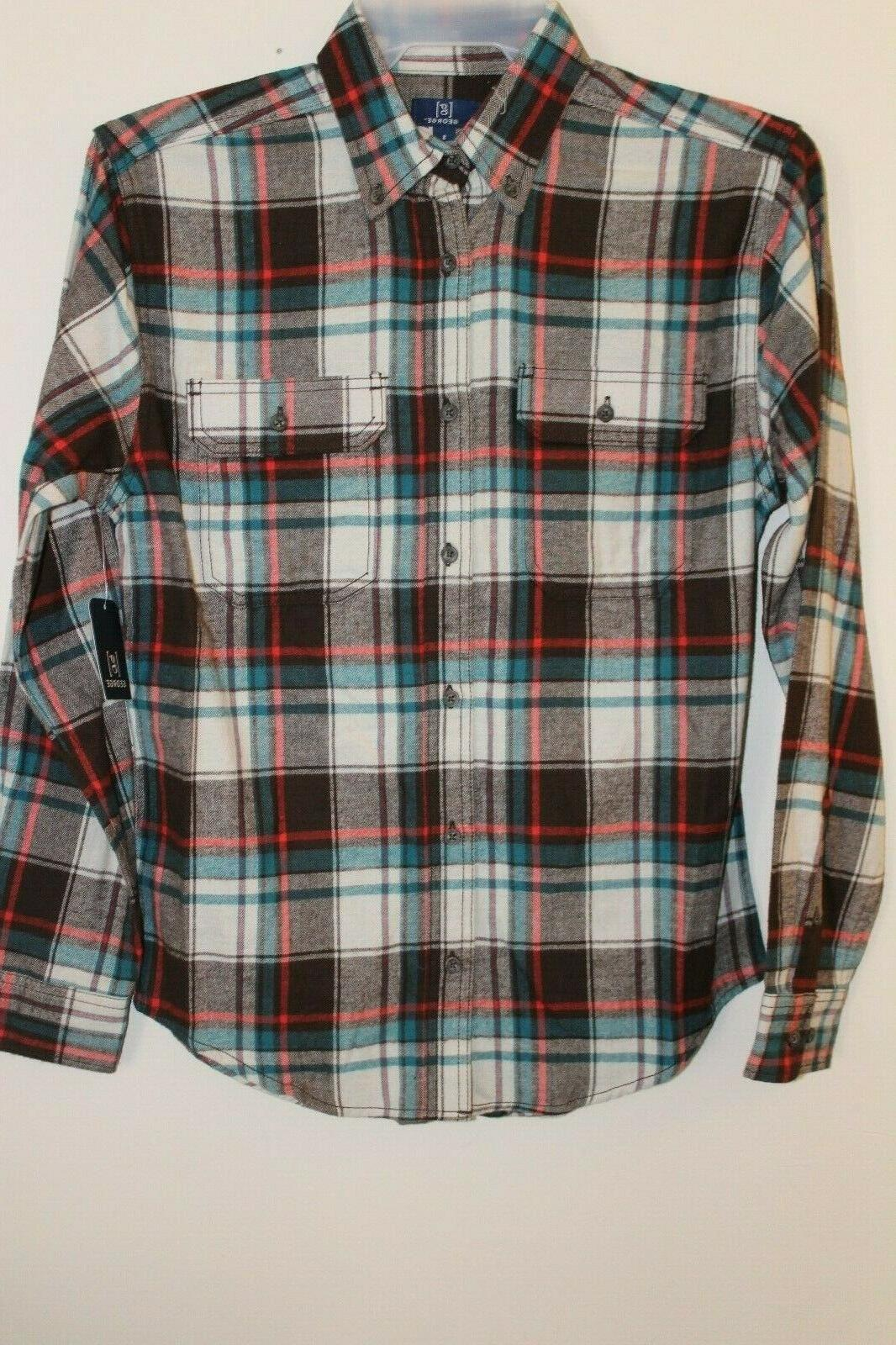 new men s long sleeve plaid flannel
