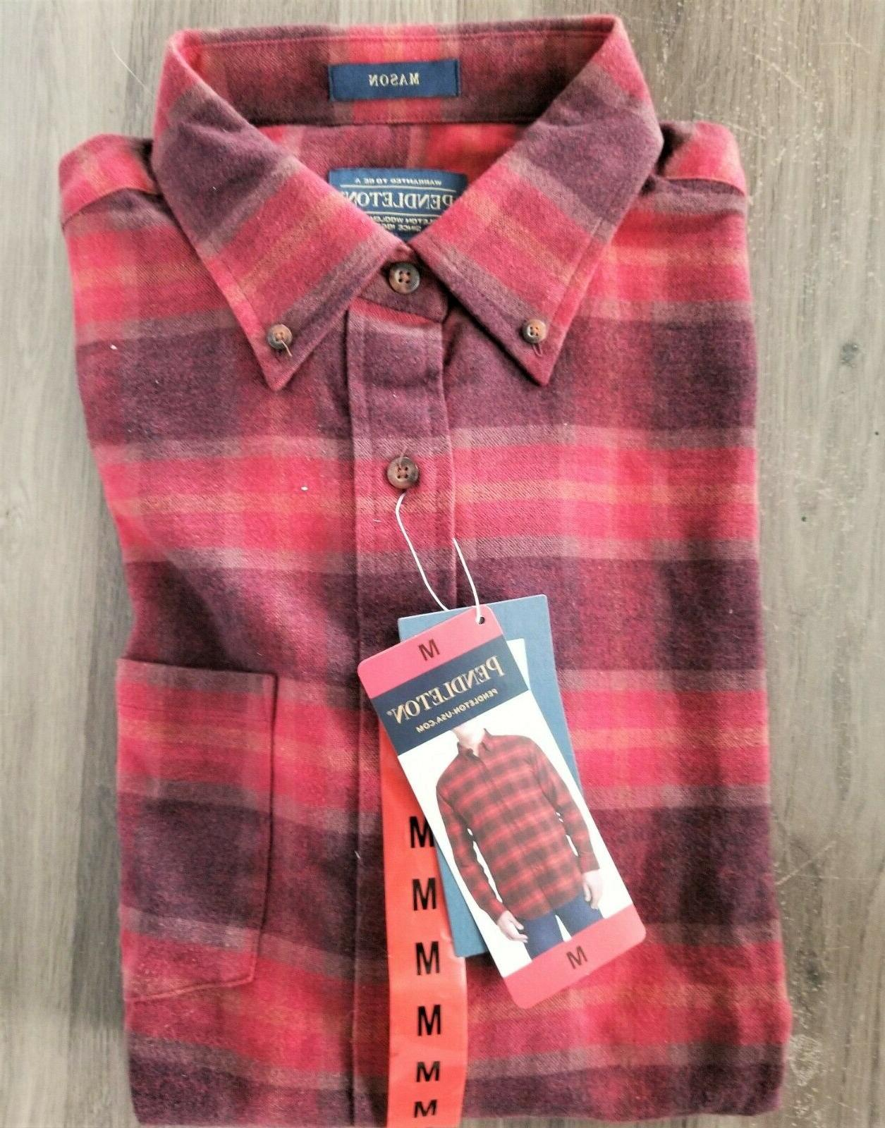 New Pendleton Mason Flannel Shirt Lister CHOOSE