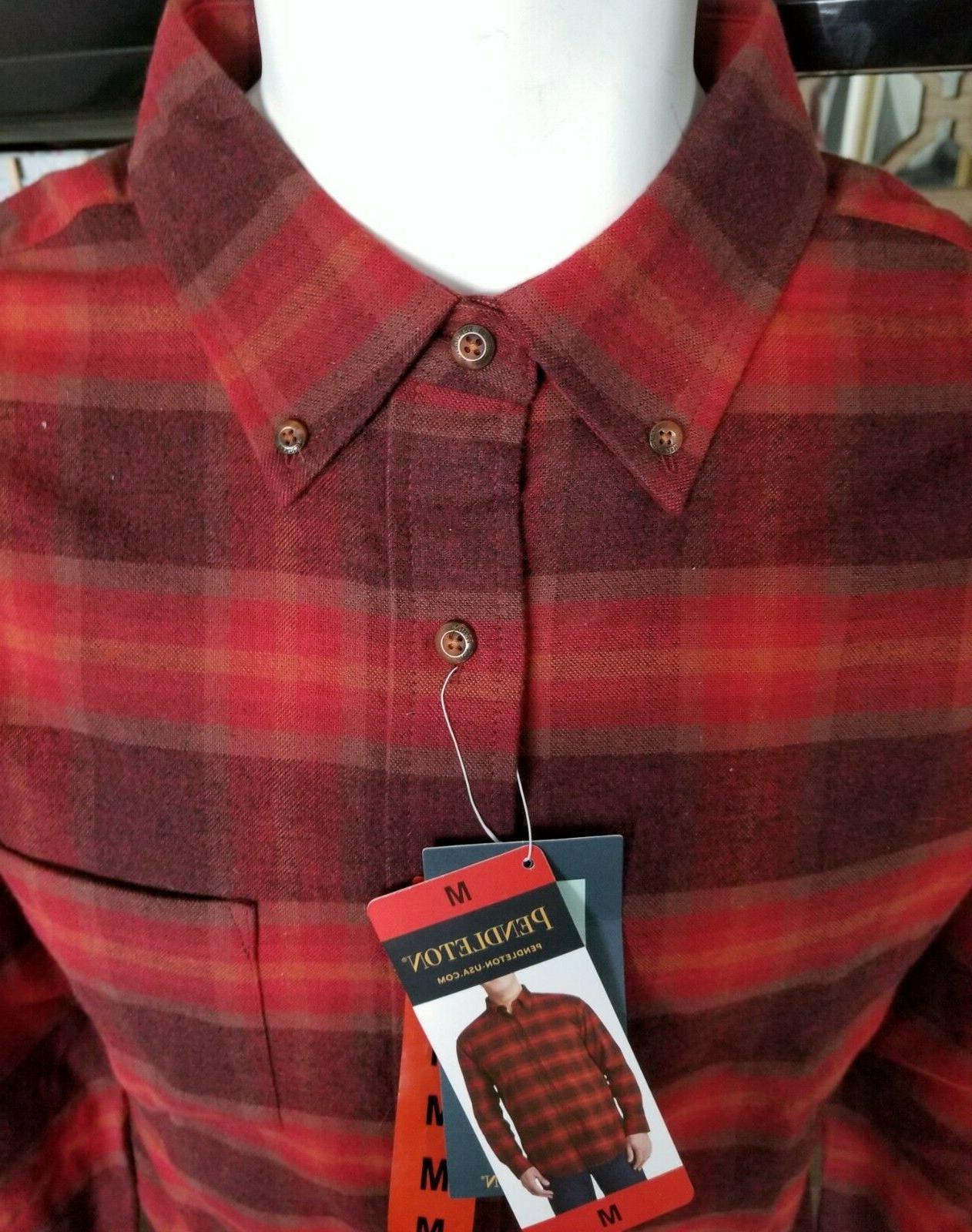 New Men's Pendleton Flannel Red Wine Lister