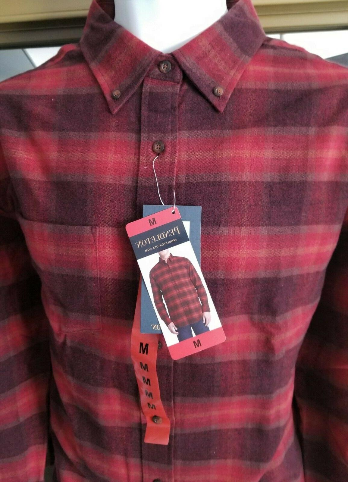 New Flannel Shirt Red Wine Lister CHOOSE