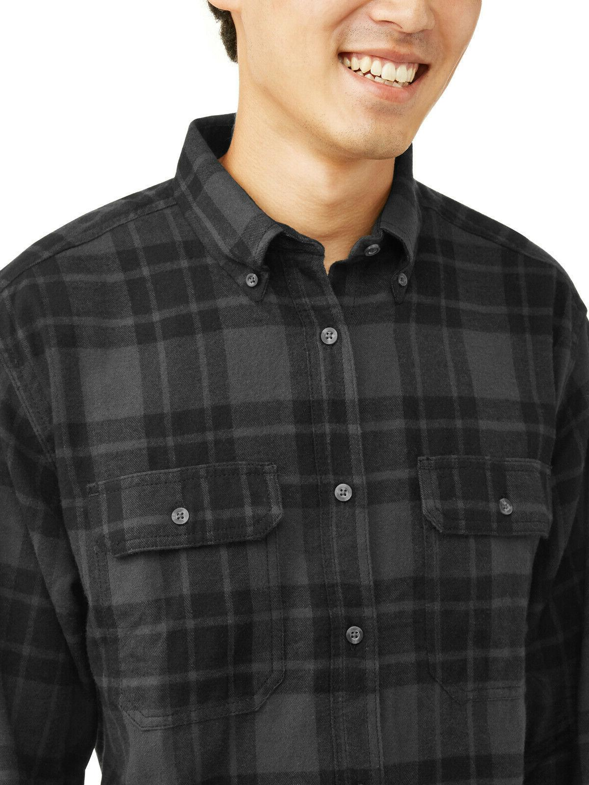 NEW George Plaid Button Down Shirt Size Large