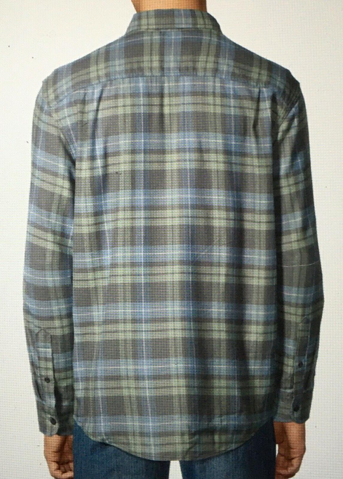 NEW Grey Blue Plaid Shirt Long Sleeve Down 3XL