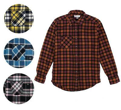 new mens plaid flannel lumberjack classic fit
