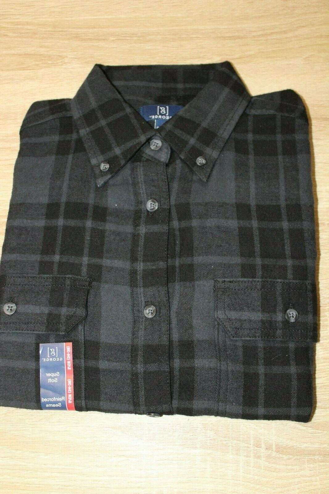 NEW George Mens' Button Down Long Choose Color