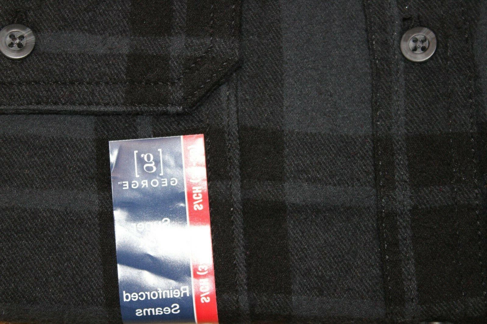 NEW Mens' Plaid Flannel Shirt S Button Choose Color