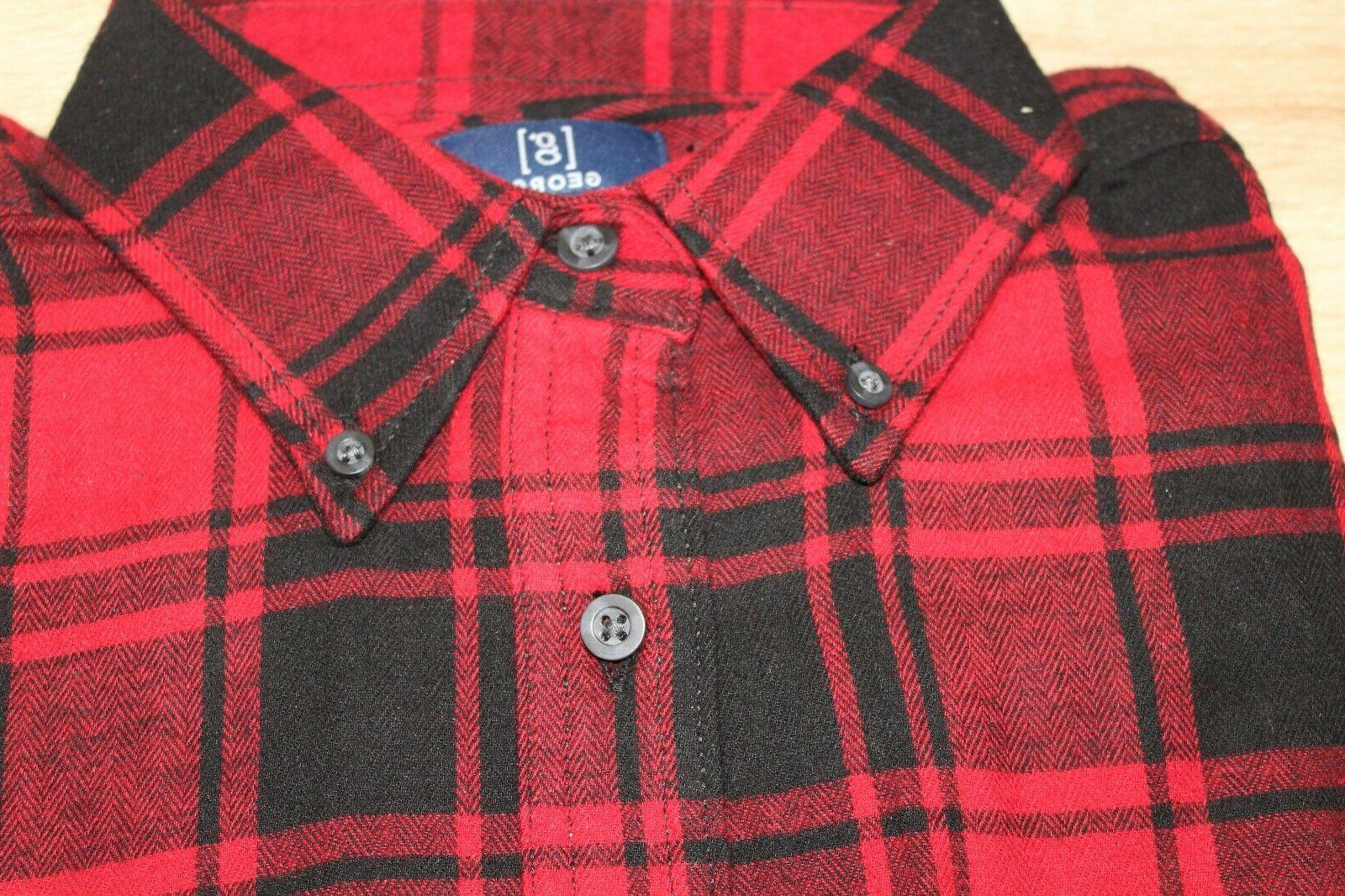 NEW George Flannel Size Button Down Sleeve Choose Color