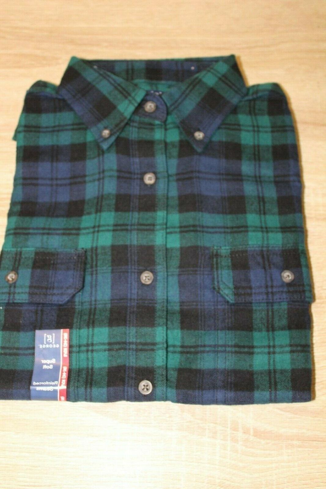 NEW Flannel Shirt Button Down Sleeve Choose Color