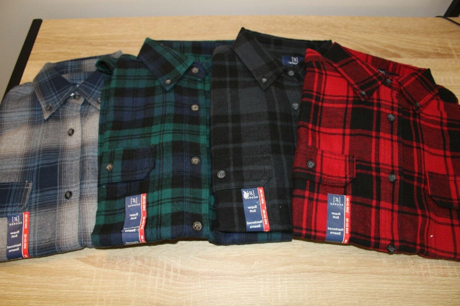 new mens plaid flannel shirt size s