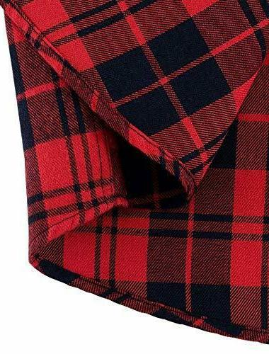 NEW Unisex Buffalo Plaid Long Sleeve S-XL