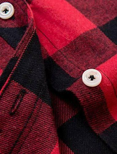 NEW Red Black Buffalo Shirt Long Sleeve Button Down Flannel S-XL