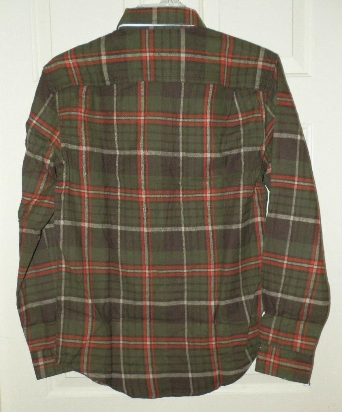 Green Plaid Shirt George Button