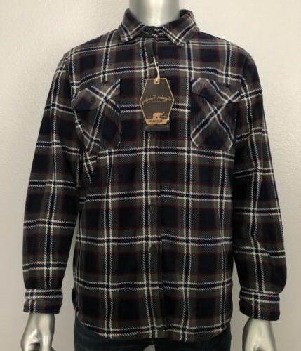 new mens super plush fleece shirt jacket
