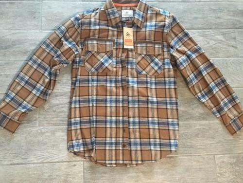 new reinforced flannel plaid size large