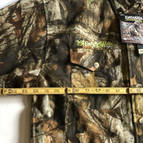 New Whitewater Camoflage Shirt Size Hunting