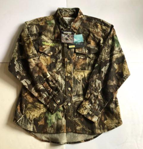 New Whitewater Camoflage Flannel Shirt Mens Size Large Hunti